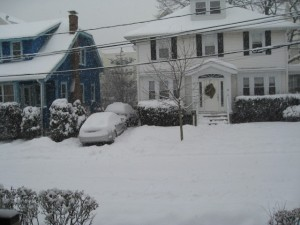 Snowing the house down