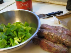 Sauage and peppers