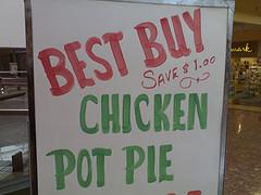 Chicken Pot Pie Sign