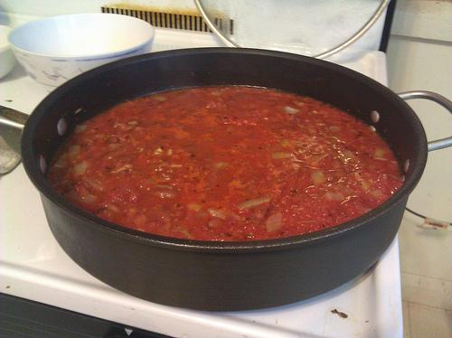 Pan of Lasagne Sauce