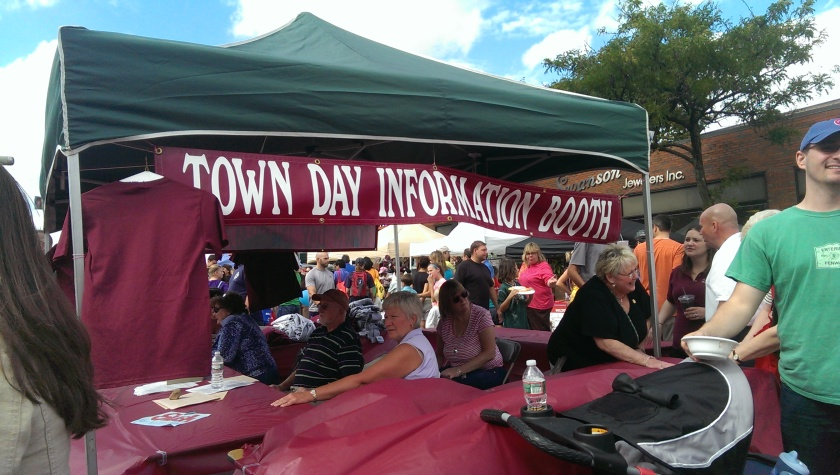 Arlington Town Day Information Booth