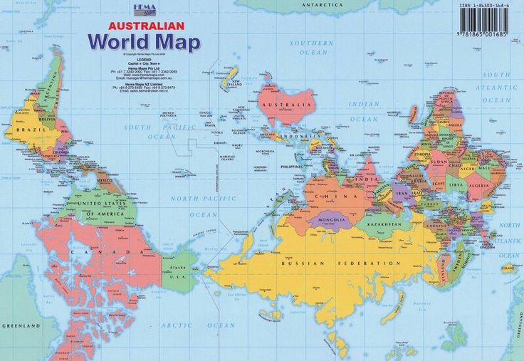 australian world map
