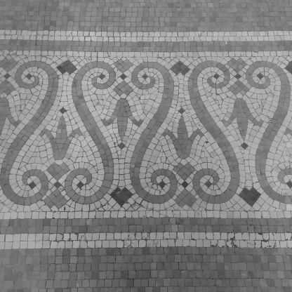 A Floor in Black and White