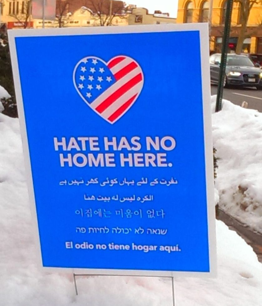 Hate has no home here poster